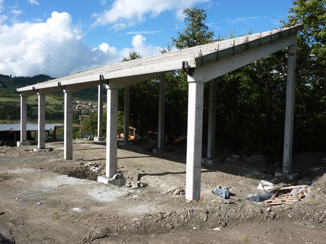 realizzazione di un prefabbricato agricolo in cemento armato a castel di casio bologna emilia romagna alfa pose srl